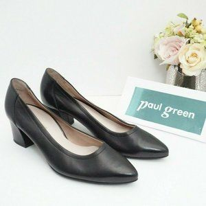 🆕Paul Green Pointed Toe Pumps Black Leather Soft